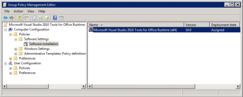 Commvault deploying outlook add in client via active - Visual studio tools for office runtime ...